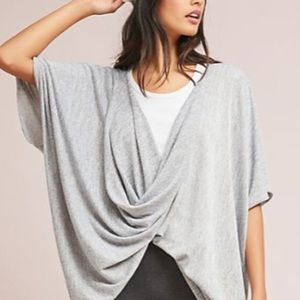 Anthropologie twisted knit poncho